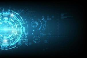 concept de communication de technologie bleu brillant