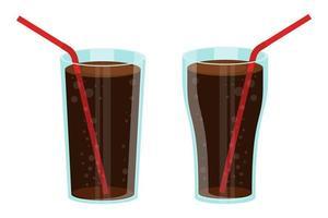 ensemble de verre de soda vecteur