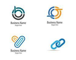 ensemble de logo minimaliste d'entreprise vecteur