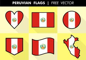 Vecteur libre de drapeaux de peruvie