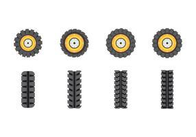 Vecteurs de pneus de tracteur gratuits vecteur