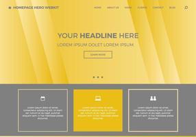 Page d'accueil gratuite hero webkit 8 vecteur