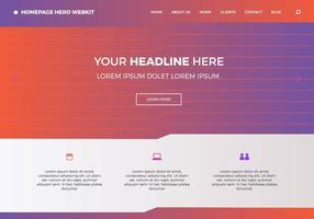 Page d'accueil gratuite hero webkit 9 vecteur