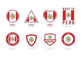 Icônes gratuites du Pérou vecteur