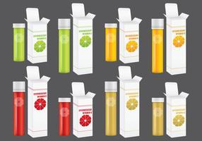Paquets de vitamines effervescents vecteur