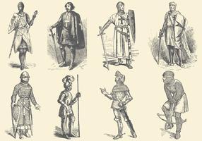 Chevaliers médiévaux vecteur