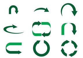 Vecteur vert simple de flechas