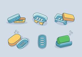 Pack de vecteur de boîte à savon