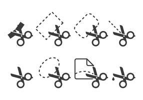 Icônes de coupe de ruban