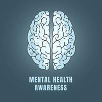 icône de sensibilisation à la santé mentale
