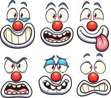 jeu de visages de clown