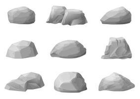 ensemble de différentes pierres naturelles vecteur