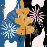 motif floral abstrait moderne vecteur