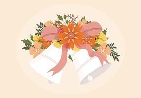 Illustration des cloches de mariage vecteur