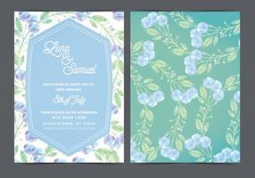 Invitation de mariage de vecteur de fleur de lilas