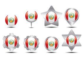 Marqueur de drapeau du Pérou vecteur