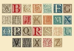 Lettres de capitaux décoratifs vecteur