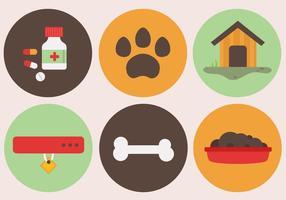 Vecteur libre d'éléments pour animaux de compagnie