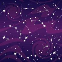 modèle sans couture violet d'étoiles de constellations vecteur