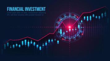 graphique de trading lumineux avec signal cible d'achat