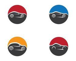 icônes de voiture de cercle vecteur