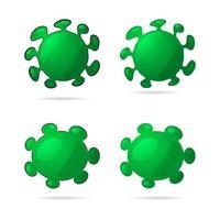 jeu d'icônes de virus dessin animé