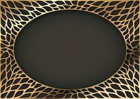 cadre ovale vintage décoratif doré