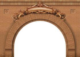 armoiries du château de la porte antique vecteur