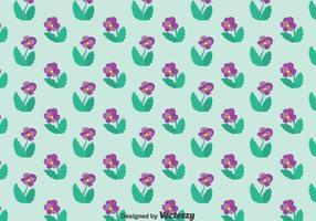 Motif de fleurs pansy violet