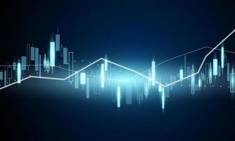 graphique boursier pour les affaires financières vecteur