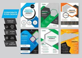 ensemble de flyers d'entreprise coloré