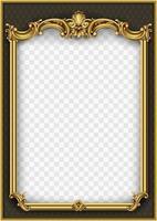 cadre ornemental doré avec motif