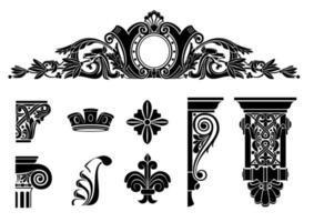 silhouettes d'écran classique noir vecteur