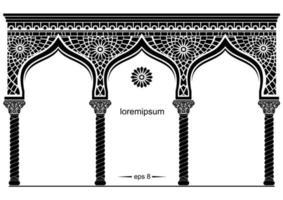 silhouette de la façade orientale arquée