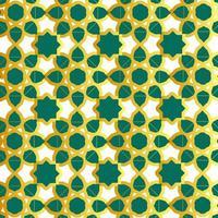 motif islamique vert et or