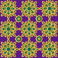 motif islamique ou scandinave or et vert