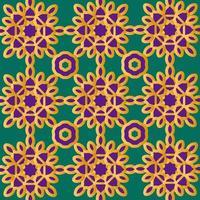 motif floral islamique ou scandinave or et violet