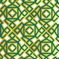 motif islamique géométrique vert et or