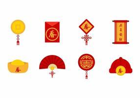 Vecteur d'icônes de Nouvel An chinois gratuit