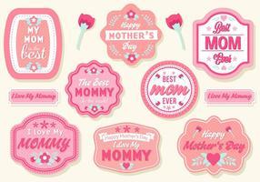 Vecteur de badges gratuit pour la fête des mères
