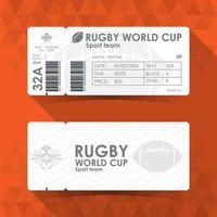 billet coupe du monde de rugby vecteur