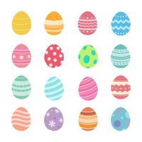 ensemble d'oeufs de Pâques