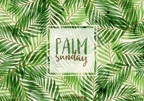 Illustration de palme de palmier vecteur