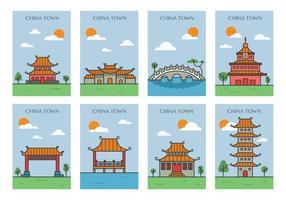 Chine Town Posters vecteur