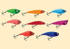 Icônes de vecteur de lancer de pêche