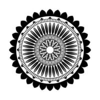 mandala floral noir