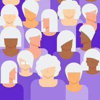 concept de femme âgée vecteur