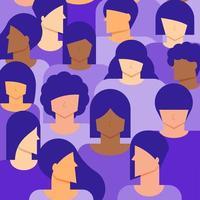 fond de population féminine vecteur