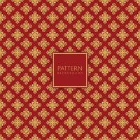 motif décoratif or et diamant rouge vecteur