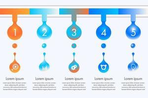 infographie de goutte d'eau colorée vecteur